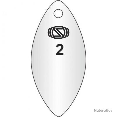 CUILLER TOURNANTE SWIMY INLINE SPINNER WILLOW - 17G 4 A l'unité Argent 17 Silver