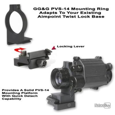 GG&G PVS-14 Ring mount pour Aimpoint Twist Lock Base