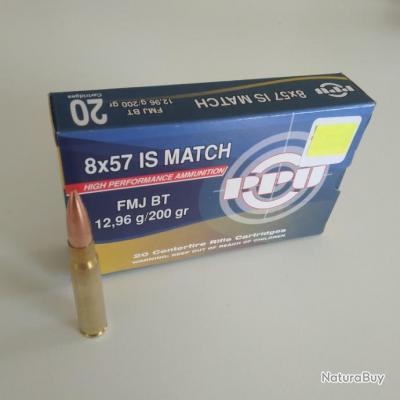 Boite de 20 cartouches 8x57 IS MATCH PPU