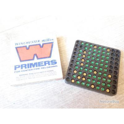 73 Amorces PRIMERS - Marque Winchester - Rechargement Boite collection