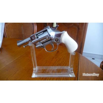 Revolver Arminius HW1G, édition chromée, 9 mm PTB 89-69 gaz Alarme (1975),