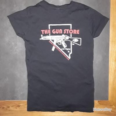 """T-shirt de la fabuleuse armurerie de Las Vegas """"THE GUN STORE"""""""