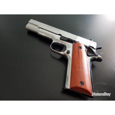 Pistolet 9 mm à blanc KIMAR 911 nickelé