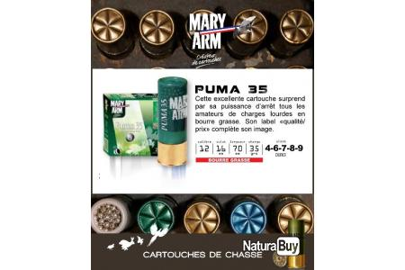 Cartouches MARY ARM PUMA 35 Boite de 25 Calibre 1270