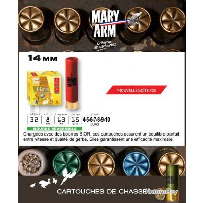Cartouches MARY ARM Lot de 250 Calibre 14mm