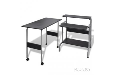 Bureau 0502101 d'ordinateur travail meuble informatique réglable noir table 6gyIYfbv7