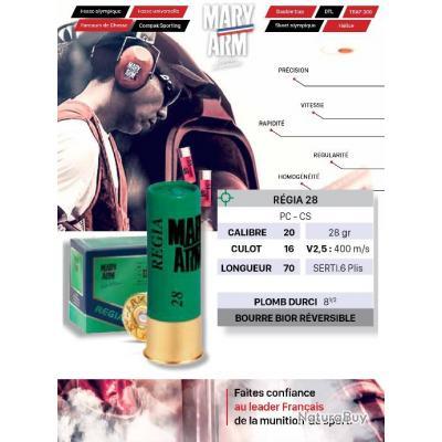 Cartouches MARY ARM REGIA 28 BR Lot de 500 Calibre 20/70