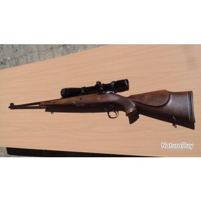 Carabine à verrou en cal 7 X 64 avec lunette 6-18x40  l'ensemble en excellent état