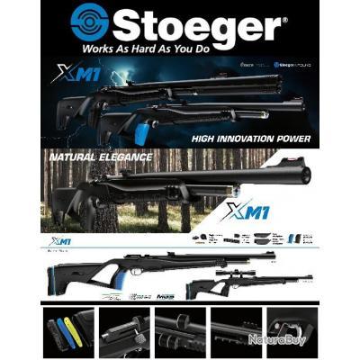 Carabine PCP STOEGER XM1 Combo Accessoires + Lunette 4x32 cal 4.5 (.177) 19.9 joules