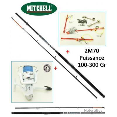 Pack Bateau Mitchell Pro 2M70 100/300gr + Moulinet Mitchell Garni + Accessoires