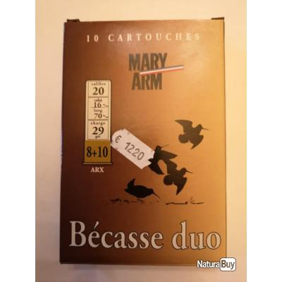 Cartouches MARY ARM BECASSE DUO ARX 8+10 cal. 20/70 DESTOCKAGE!!!