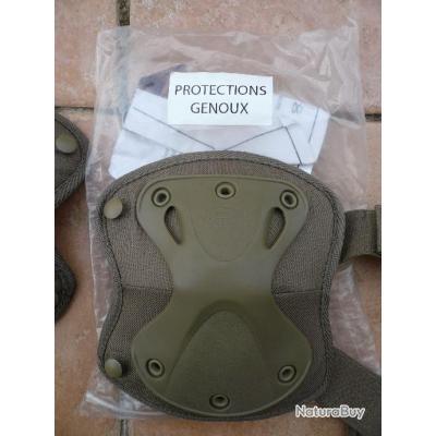 Lot 2 X 2 paires hatch protection genoux et coudes (X4 paires genoux et coudes ) armée