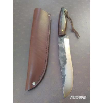 Grand couteau de camp lame brute de forge   Fred marchand