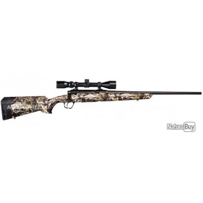 Carabine à Vérrou Savage Axis XP Camo + Lunette 3-9X40 Calibre 30.06 Canon Fileté