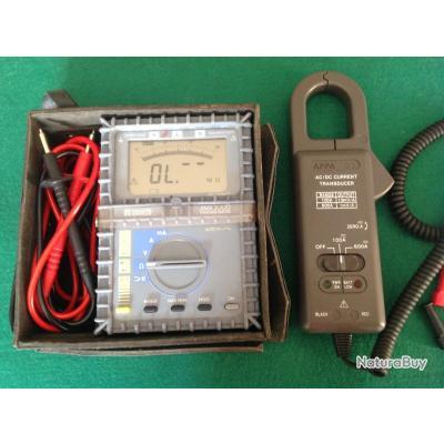 Multimètre Chauvin Arnoux MAX 3000 avec Pince Ampèremètrique APPA 32 AC / DC