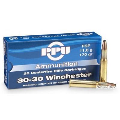 Balles Cartouche Calibre 30-30 30.30 Winchester 170 grains Soft Point (FSP) - Spéciale Chasse