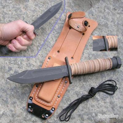 COUTEAU De Survie ONTARIO AIR FORCE SURVIVAL SURVIE BOWIE Couteau de combat Made In USA ON499