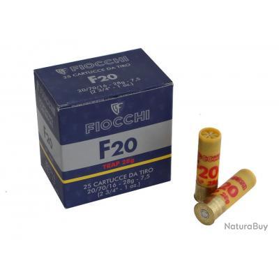 CARTOUCHES FIOCCHI F20 C/20/70/16 - 28G - PB 7,5