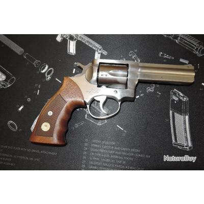 "Revolver MANURHIN MR88 Inox en 38 Spécial poignée bois canon de 4"""