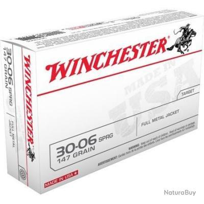 Munitions Winchester FMJ Cal.30-06 147gr 9.53g par 20