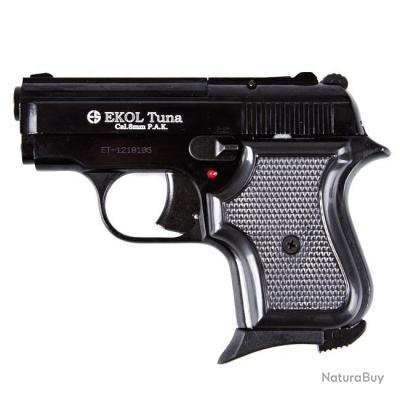 NOUVEAU!! Pistolet de Défense Ekol Tuna Noir Cal. 8mm 6 Coups + Malette