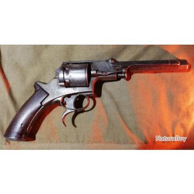 Rarissime Revolver Tranter transformé cartouches metalliques
