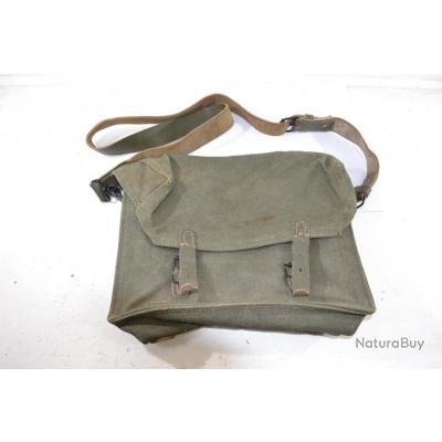 nouveaux styles a08e8 35c4b Musette militaire Armée Française, sacoche sac de transport vert. Surplus  militaire sac a dos chasse