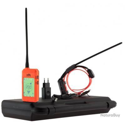 ( Ensemble Collier + Commande GPS X20 (Set de deux chiens) orange fluo)Collier GPS pour chien sans a