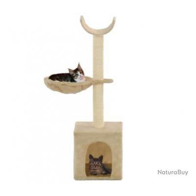 Arbre à chat avec griffoirs en sisal 105 cm Beige