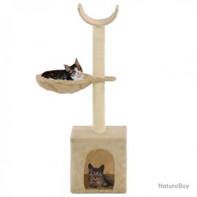 Arbre à chat avec griffoirs en sisal 105 cm Beige 69489