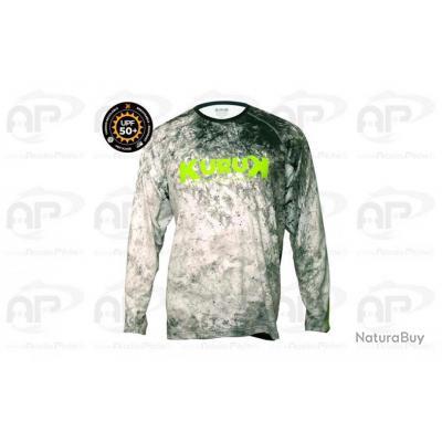 T Shirt Expedition 50+ KURUK Gris Vert