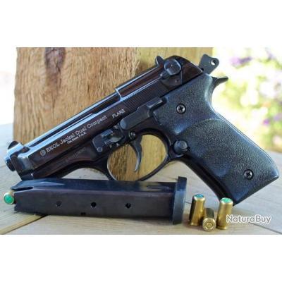 NOUVEAU! Ekol Jackal Compact Noir FULL AUTO Type Beretta 92FS