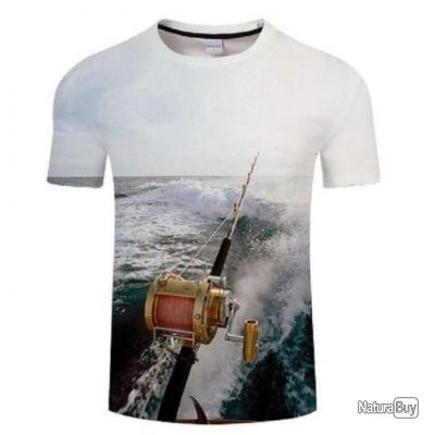 T shirt Fishid 3D À la traîne