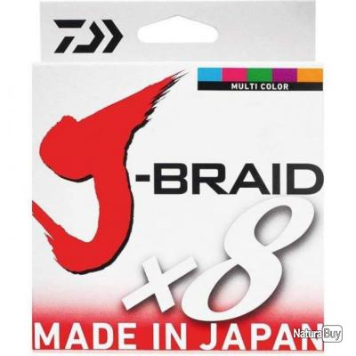 Tresse Daiwa J-Braid X8 Multicolore - 300 m - 24/100 - 18 kg