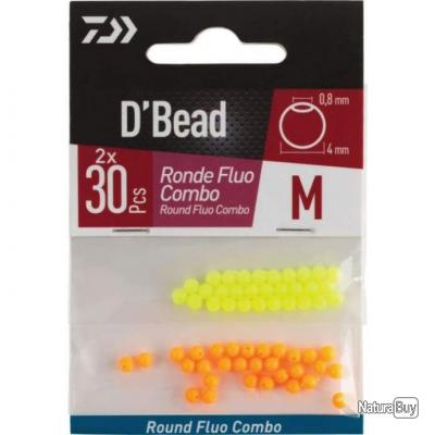 Combo Perles rondes round Fluo Daiwa D'Bead - L
