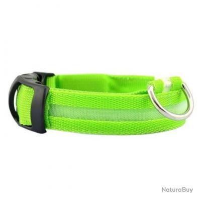 Collier à chien lumineux Starpets LED+ - Vert / 48 cm / 25 mm