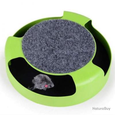 Souris rotative pour chat PetSoft - Vert