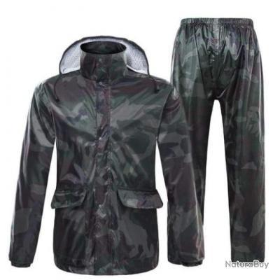 Ensemble veste et pantalon de pluie Refire Cache - M / Camo Foret