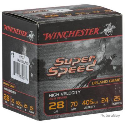 LOT DE 10 BOITES DE CARTOUCHES WINCHESTER SUPER SPEED cal 28/70 culot de 15 n°6  et 7,5