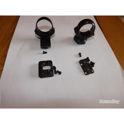 je vends un montage pivotant EAW avec colliers de 30 mm pour Browning X bolt