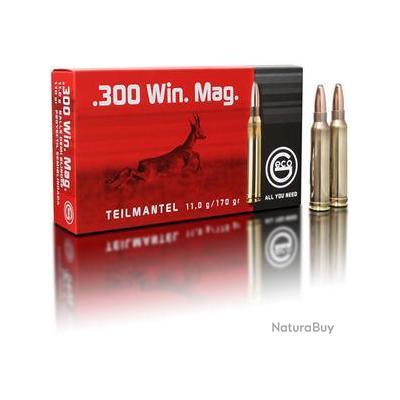Munitions Geco 300 Win Mag Teilmantel 11gr Bt de 20