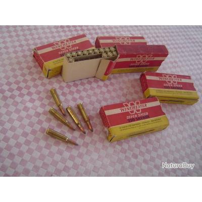 5 boites de cartouches calibre 250 Savage.
