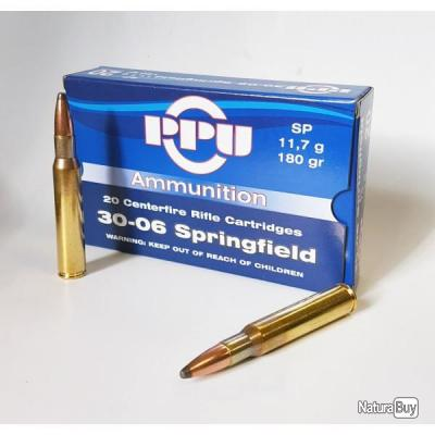 Munitions partizan 30-06 Springfield 180-Grs. SP PROMO PARTIZAN!