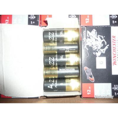 LOT DE 100 Cartouches calibre 12X70 WINCHESTER ZZ PIGEON PLOMB 7/5 36GR BOURRE A JUPE