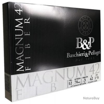 CARTOUCHES B&P MAGNUM FIBER 42GR CAL 12/76 DISPO EN Pb N 5,6 et 7