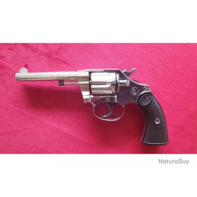 Splendide Colt New Police, calibre 32 S & W Long, pontet large