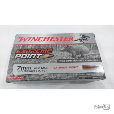 LOT DE 40 BALLES WINCHESTER CAL 7MMREM EXTREME POINT 140GR