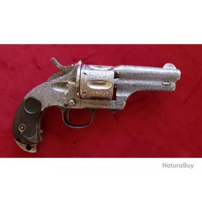 Exceptionnel Revolver Merwin & Hulbert Pocket Army en calibre 44 40, magnifiquement gravé