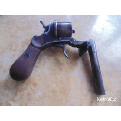 exceptionnel REVOLVER système à brisure canon basculant F.Eraut breveté SGDG munition Lefaucheux 7mm