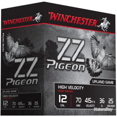 CARTOUCHES WINCHESTER ZZ PIGEON 36G CAL 12/70 DISPONIBLE EN PB 4, 5, 6 ET 7.5